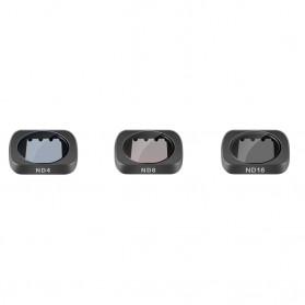 Telesin Lensa Neutral Density ND Filter Lens ND4 ND8 ND16 3 PCS for DJI Osmo Pocket - OS-FLT-ND1 - Black - 3