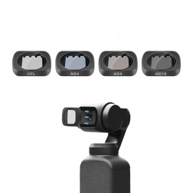 Telesin Lensa CPL + ND Filter Lens ND4 ND8 ND16 4 PCS for DJI Osmo Pocket - OS-FLT-ND2 - Black