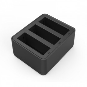TELESIN Charger Baterai 3 Slot for DJI Osmo Action - OS-BCG-002 - Black - 2
