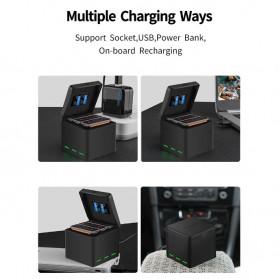 TELESIN Charger Baterai 3 Slot Storage Box for DJI Osmo Action - OS-BCG-003 - Black - 10