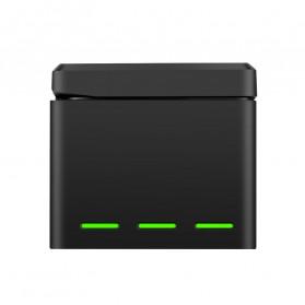TELESIN Charger Baterai 3 Slot Storage Box for DJI Osmo Action - OS-BCG-003 - Black - 2