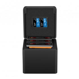 TELESIN Charger Baterai 3 Slot Storage Box for DJI Osmo Action - OS-BCG-003 - Black - 4