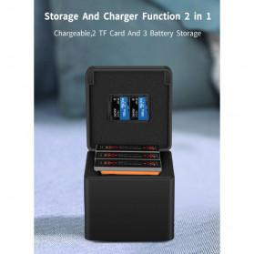 TELESIN Charger Baterai 3 Slot Storage Box for DJI Osmo Action - OS-BCG-003 - Black - 6