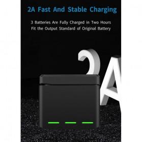 TELESIN Charger Baterai 3 Slot Storage Box for DJI Osmo Action - OS-BCG-003 - Black - 7
