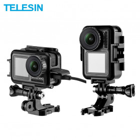 Telesin Frame Housing Case Bumper Vertical Horizontal for DJI Osmo Action - OS-FMS-002 - Black