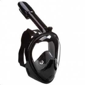 Telesin Full Face Snorkel Diving Scuba Mask with Tripod Mount for GoPro - GP-DIV-GS3 - Black - 1