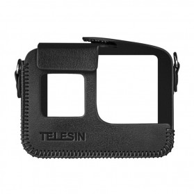 Telesin Frame Housing Protective Case PU Leather for GoPro Hero 8 - GP-PRC-L08 - Black