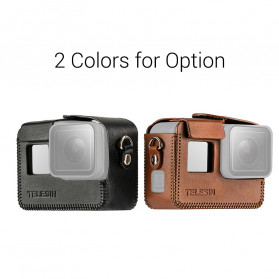 Telesin Frame Housing Protective Case PU Leather for GoPro Hero 8 - GP-PRC-L08 - Black - 2