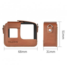 Telesin Frame Housing Protective Case PU Leather for GoPro Hero 8 - GP-PRC-L08 - Black - 7