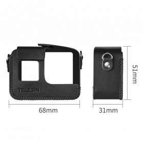 Telesin Frame Housing Protective Case PU Leather for GoPro Hero 5/6/7 - GP-PRC-567 - Black - 8