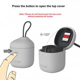 TELESIN Allin Charger Box Baterai Kamera Card Reader Storage for Canon LP-E6 - AN-BCG-LPE6 - Gray - 2