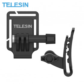 Telesin Clip Clamp Topi Head Cap Mount for GoPro - GP-CFB-001 - Black