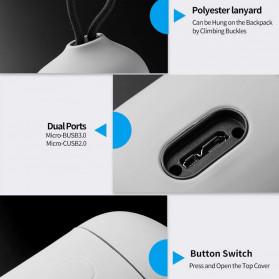 TELESIN Allin Charger Box Baterai Kamera Card Reader Storage for Sony NP-FZ100 - SN-BCG-FZ100 - Gray - 6