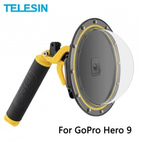 Telesin Dome Port Underwater 6 Inch Acrylic Base for GoPro Hero 9 - GP-DMP-T09 - Yellow