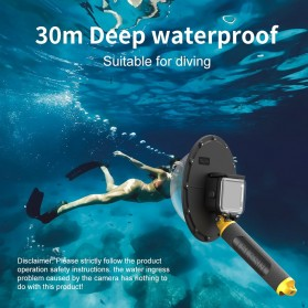 Telesin Dome Port Underwater 6 Inch Acrylic Base for GoPro Hero 9 - GP-DMP-T09 - Yellow - 2