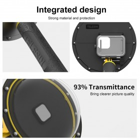 Telesin Dome Port Underwater 6 Inch Acrylic Base for GoPro Hero 9 - GP-DMP-T09 - Yellow - 5