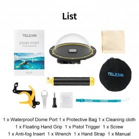 Telesin Dome Port Underwater 6 Inch Acrylic Base for GoPro Hero 9 - GP-DMP-T09 - Yellow - 6