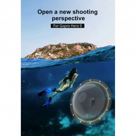 Telesin Dome Port Underwater 6 Inch Acrylic Base for GoPro Hero 9 - GP-DMP-T09 - Yellow - 7