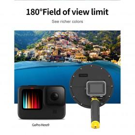 Telesin Dome Port Underwater 6 Inch Acrylic Base for GoPro Hero 9 - GP-DMP-T09 - Yellow - 8