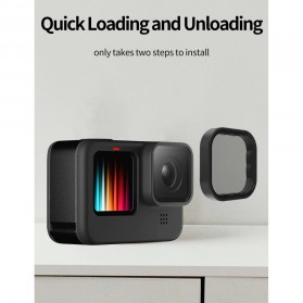 Telesin Lensa Polarizing CPL Filter Lens Accessory for GoPro Hero 9 - GP-FLT-901 - Black - 9