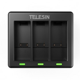 TELESIN Charger Baterai 3 Slot for GoPro Hero 9 - GP-BCG-902 - Black