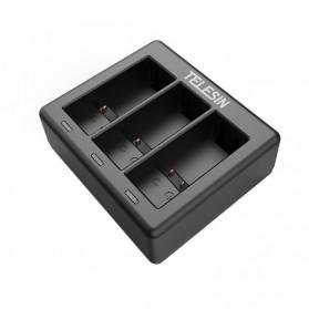 TELESIN Charger Baterai 3 Slot for GoPro Hero 9 - GP-BCG-902 - Black - 6