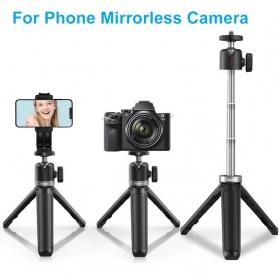 Telesin Mini Tripod Tongsis Selfie Stick Smartphone and DSLR - GP-MNP-091-W - Black