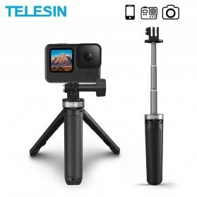 Telesin Mini Tripod Tongsis Selfie Stick Smartphone and DSLR - GP-MNP-091-W - Black - 2