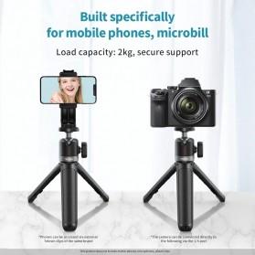 Telesin Mini Tripod Tongsis Selfie Stick Smartphone and DSLR - GP-MNP-091-W - Black - 3