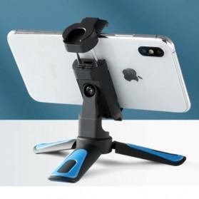 Telesin Tripod Mini Smartphone + Clamp Holder - TE-TRP-MB1 - Black Blue