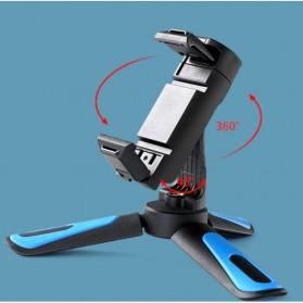 Telesin Tripod Mini Smartphone + Clamp Holder - TE-TRP-MB1 - Black Blue - 2