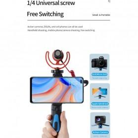 Telesin Tripod Mini Smartphone + Clamp Holder - TE-TRP-MB1 - Black Blue - 5