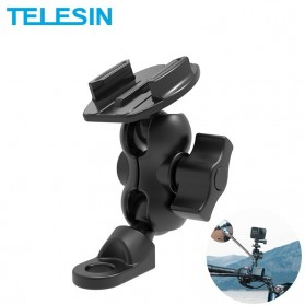 Telesin Motorcycle Rearview Camera Bracket Mount Clip For Smarphone and GoPro - GP-HBM-009 - Black