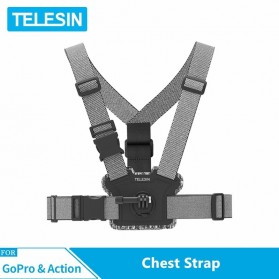 Telesin Double Mount Chest Strap for GoPro - GP-CGP-T06 - Gray