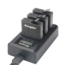 Kingma Charger Baterai 3 Slot GoPro Hero 5/6/7 AHDBT-501 - BM043 - Black - 1