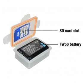 KingMa Kotak Baterai Sony NP-FW50 a7r2 a7m2 NEX-5T a5000 a5100 a6000 - Transparent - 2