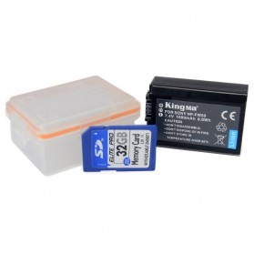 KingMa Kotak Baterai Sony NP-FW50 a7r2 a7m2 NEX-5T a5000 a5100 a6000 - Transparent - 3