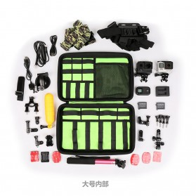 BUBM Kotak Tas Organizer EVA for GoPro Xiaomi YI SJCAM - EGP-L (ORIGINAL) - Black - 3