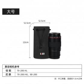 BUBM Tas Lensa Kamera DSLR Lens Bag Size L - JTY-L - Black - 6