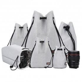 BUBM Tas Lensa Kamera DSLR Lens Bag Size L - JTY-L - Black - 7