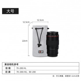 BUBM Tas Lensa Kamera DSLR Lens Bag Size L - JTY-L - Gray - 6