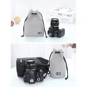 BUBM Tas Lensa Kamera DSLR Lens Bag Size L - JTY-L - Gray - 8