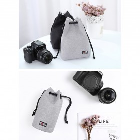 BUBM Tas Lensa Kamera DSLR Lens Bag Size L - JTY-L - Gray - 9