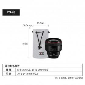 BUBM Tas Lensa Kamera DSLR Lens Bag Size M - JTY - Gray - 6