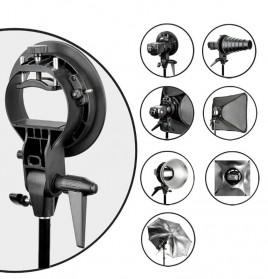 Godox S-Type Softbox Flash Diffuser Camera DSLR 80 X 80 CM - SFUV - Black - 5