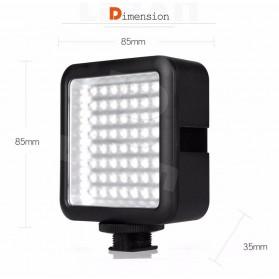 Godox Flash Kamera DSLR Universal 64 LED - Black - 6