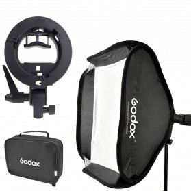 Godox S-Type Softbox Flash Diffuser Camera DSLR 50 X 50 CM - Black