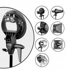 Godox S-Type Softbox Flash Diffuser Camera DSLR 50 X 50 CM - Black - 5