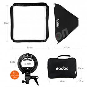 Godox S-Type Softbox Flash Diffuser Camera DSLR 50 X 50 CM - Black - 8