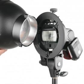 Godox S Speedlite Flash Mount Holder Bracket Lampu Kamera - Black - 2